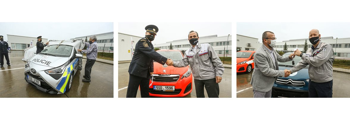 Firefighters, police and city receive assistance from carmaker TPCA